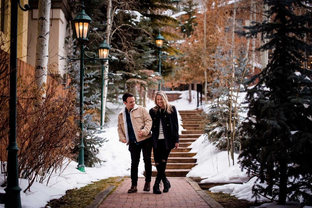 Colorado Engagement Photography in Vail Village