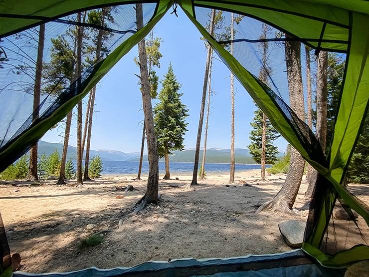 Turquoise Lake campsite in Leadville, Colorado