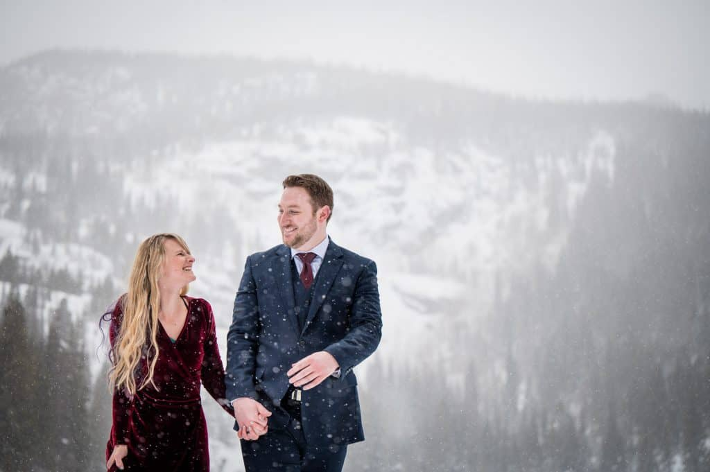 Winter Engagement Photography in RMNP